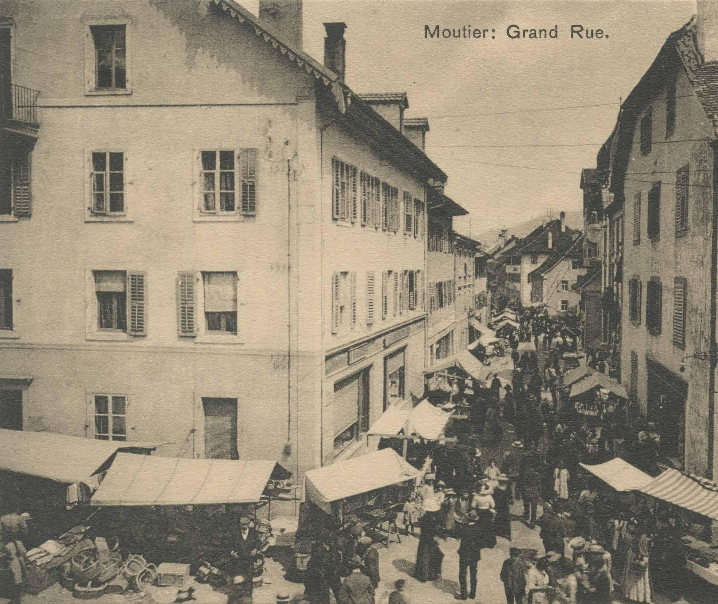 foire en vieille ville de moutier en 1917