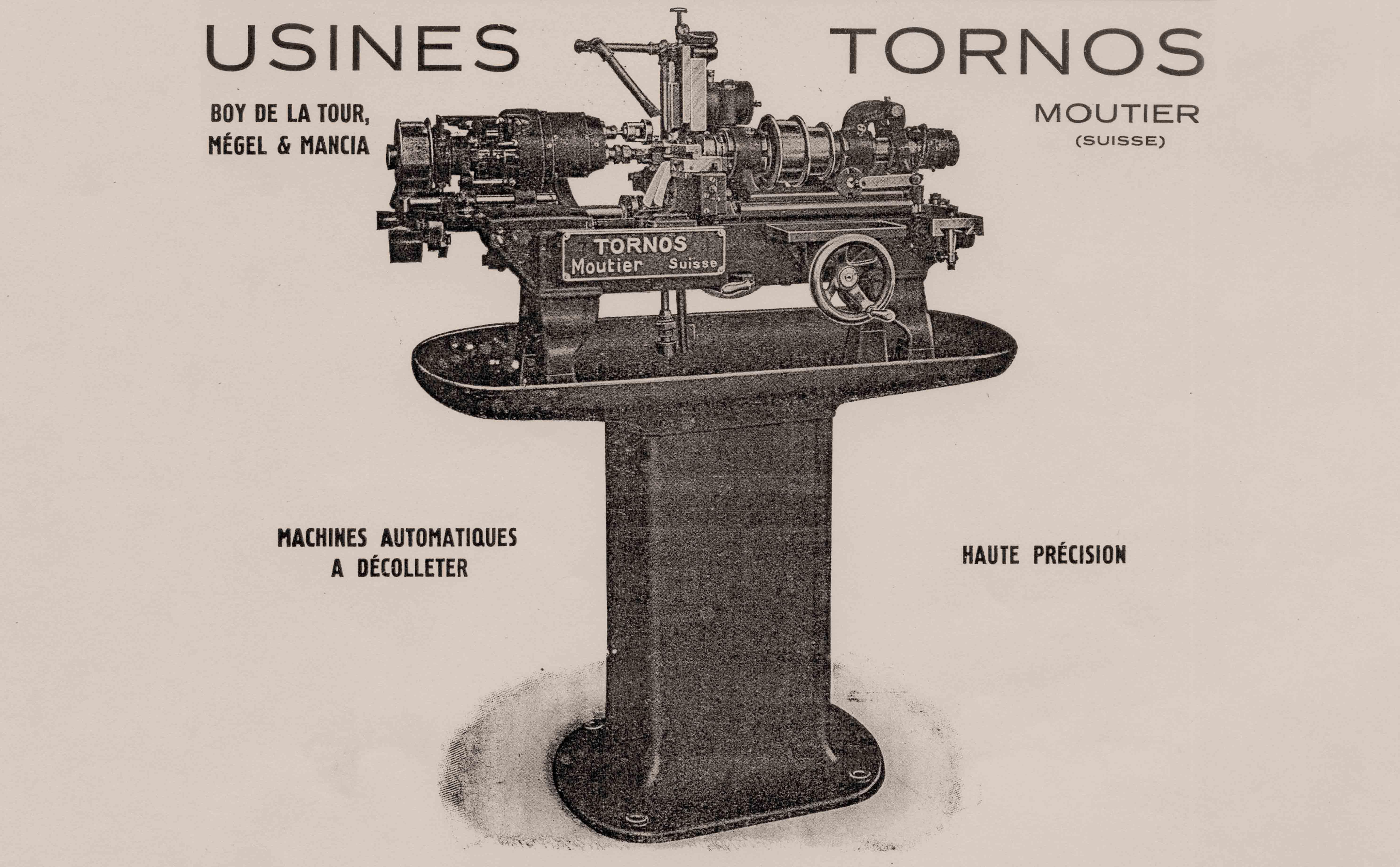 Publicité Usines Tornos (vers 1918)